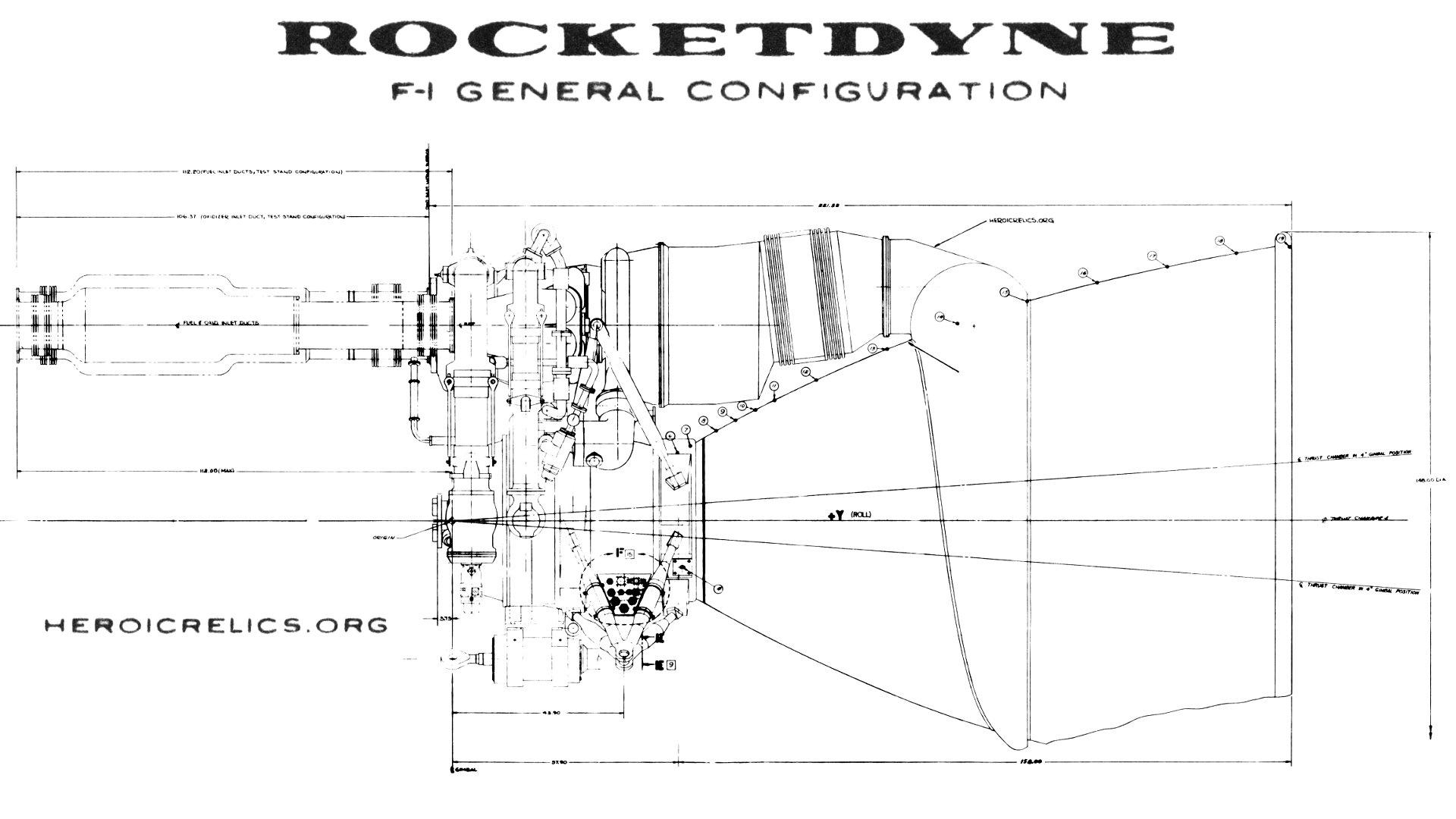 F-1 Rocket Engine General Configuration