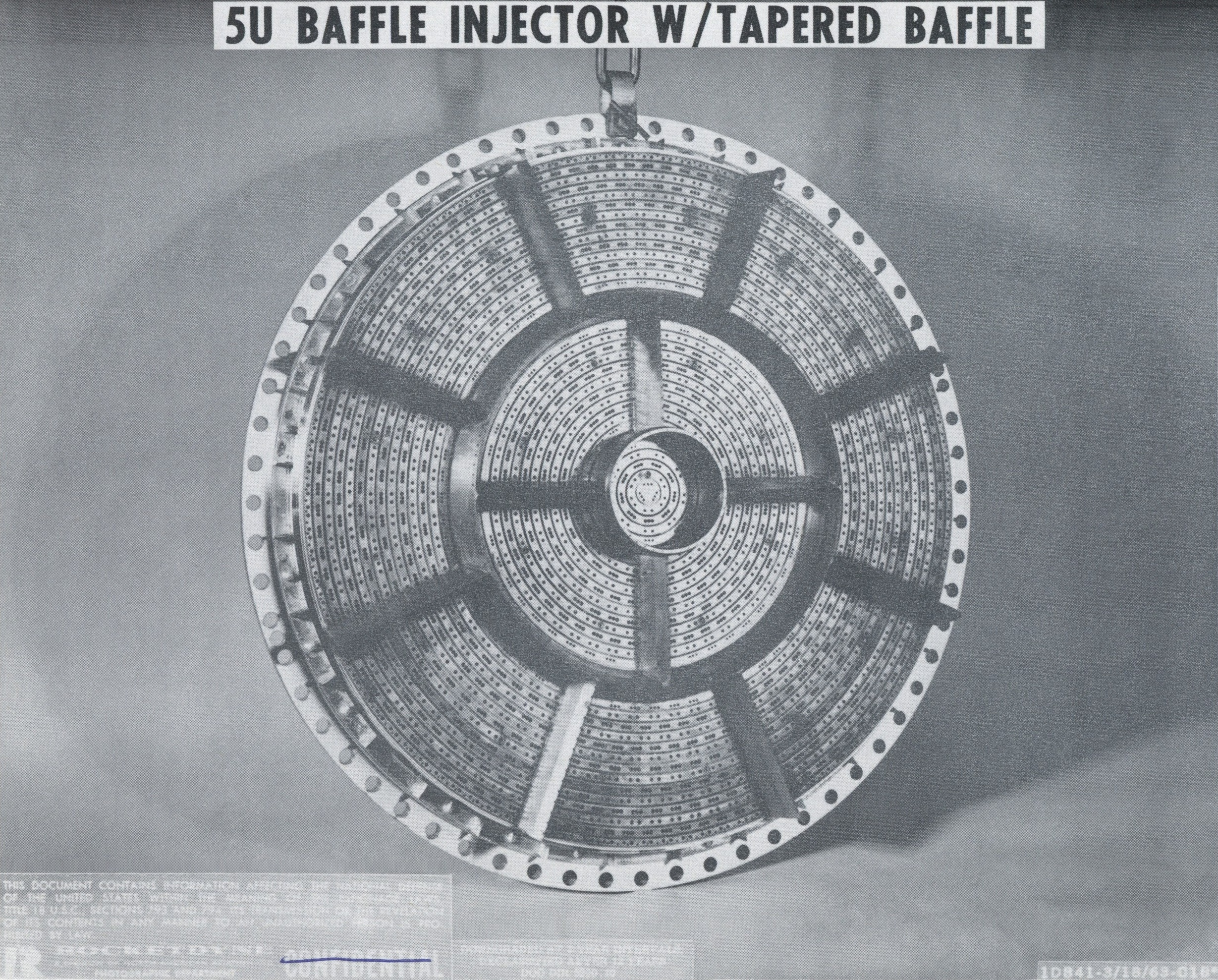 F 1 Engine Injector Saturn V F1 Diagram Rocket 5u Plate