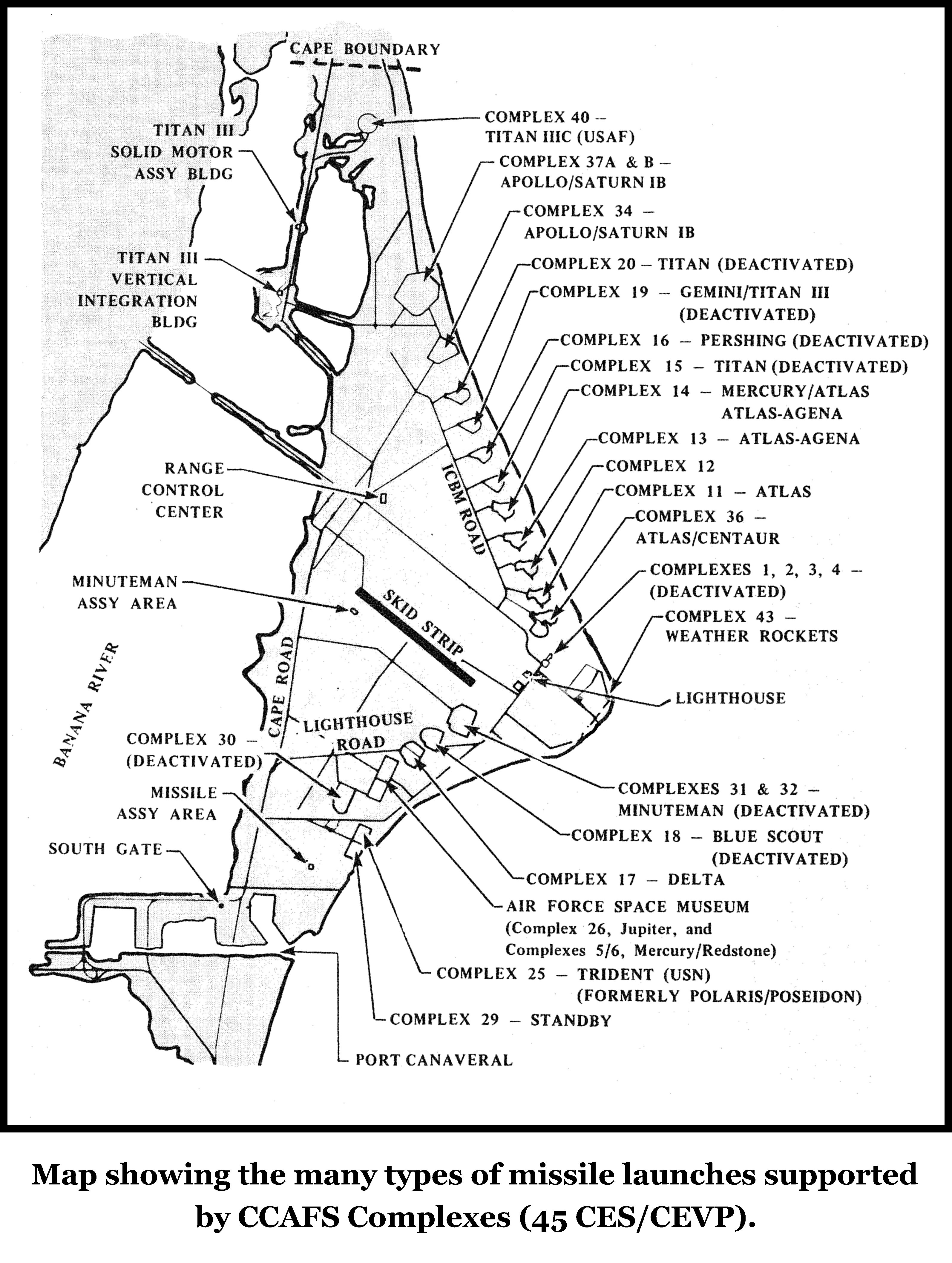 cape kennedycape canaveral air force station map. cape canaveral air force station maps
