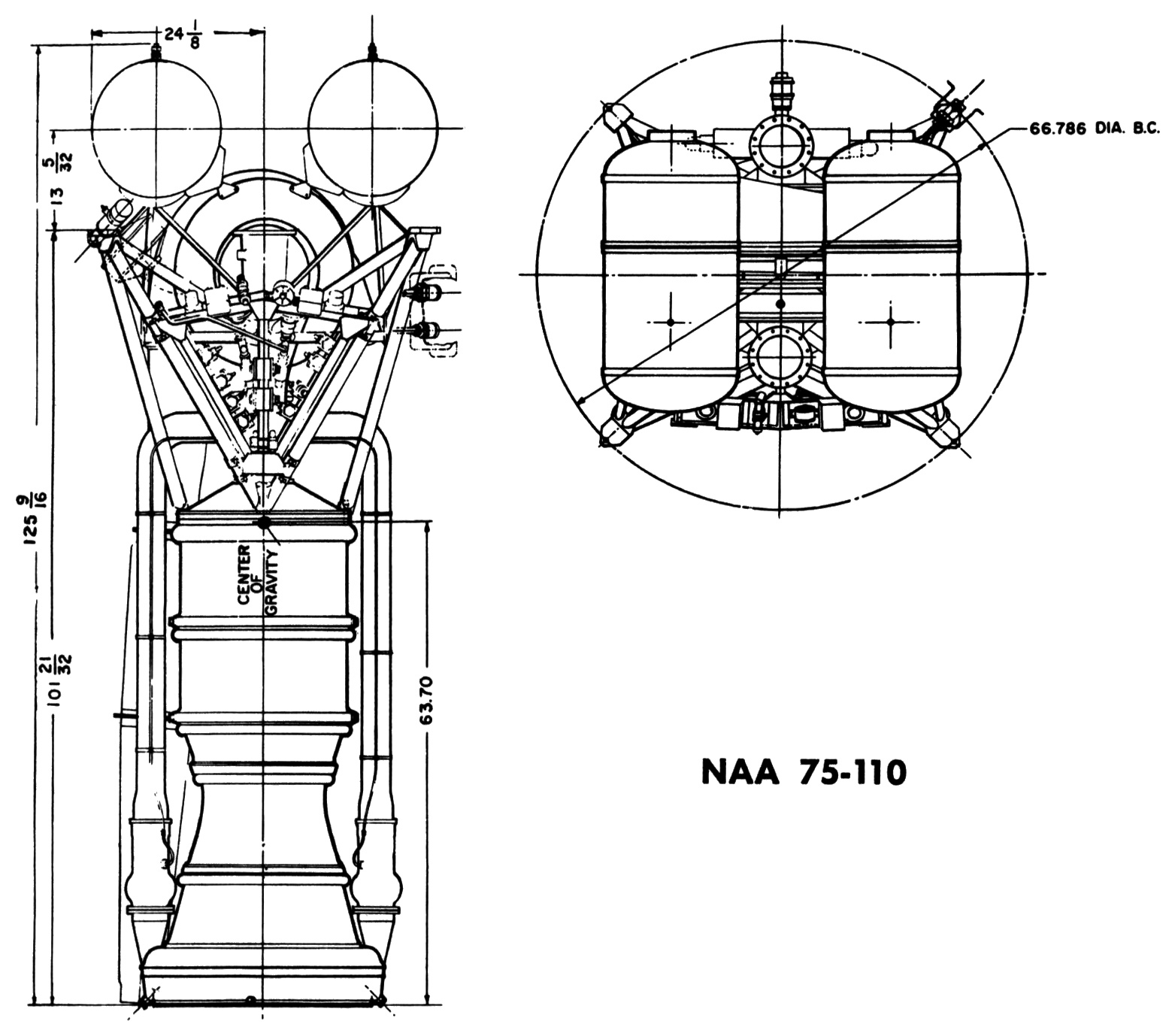 diagram of a model rocket engine